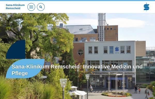 Vorschau von www.sana-klinikum-remscheid.de, Sana-Klinikum Remscheid GmbH