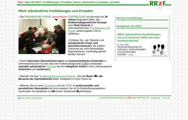 Vorschau von www.rrzf.de, Rheinbacher Reihe zahnärztlicher Fortbildung (RRzF)