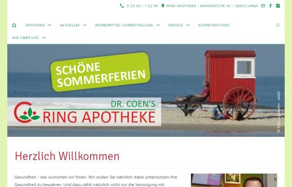 Vorschau von www.ring-apotheke.de, Ring Apotheke