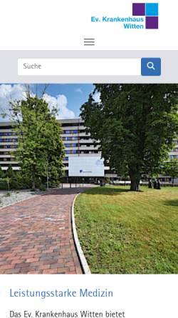 Vorschau der mobilen Webseite www.evk-witten.de, Evangelisches Krankenhaus Witten