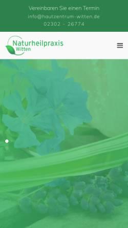 Vorschau der mobilen Webseite www.naturheilpraxis-witten.de, Institut für Hautkorrekturen