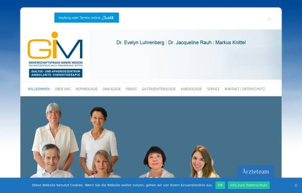 Vorschau von www.gemeinschaftspraxis-ardeystrasse.de, Internistische Gemeinschaftspraxis und Therapiezentrum