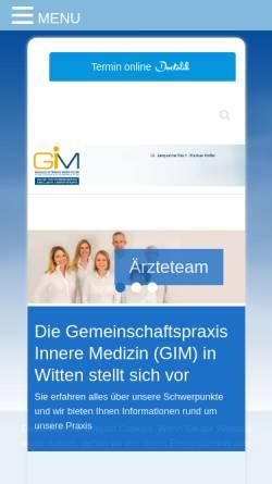 Vorschau der mobilen Webseite www.gemeinschaftspraxis-ardeystrasse.de, Internistische Gemeinschaftspraxis und Therapiezentrum
