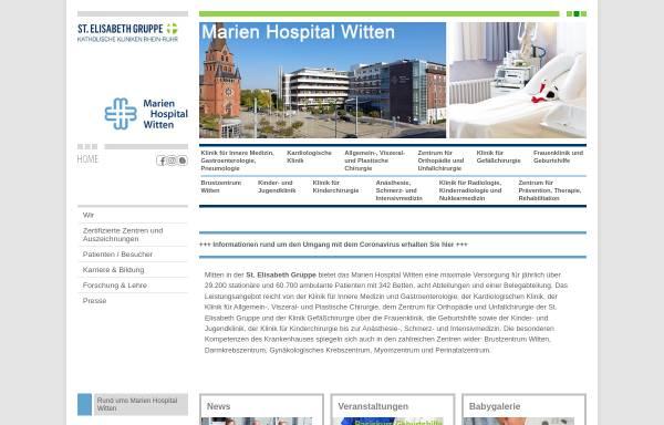 Vorschau von www.marien-hospital-witten.de, Marien-Hospital