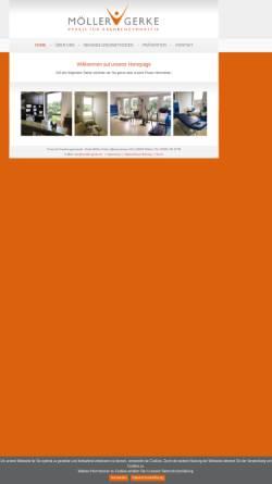 Vorschau der mobilen Webseite www.physiowitten.de, Physiotherapeutische Praxen Witten