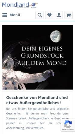 Vorschau der mobilen Webseite www.mondland.de, Mondland Verlag