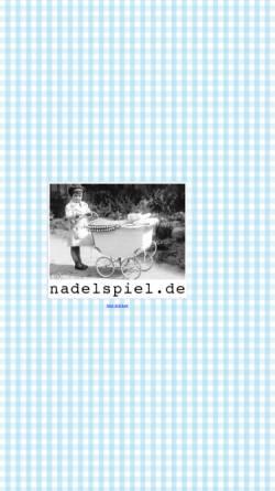 Vorschau der mobilen Webseite www.nadelspiel.de, Nadelspiel, Inh. Claudia Schmidt Grosse