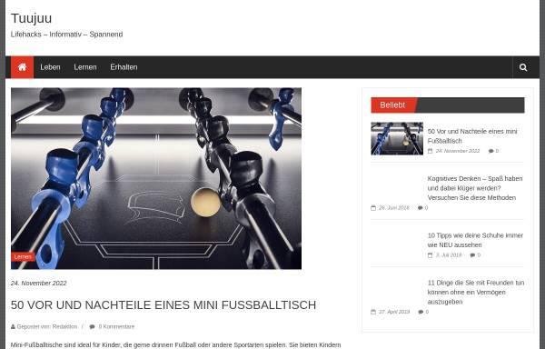 Vorschau von www.tuujuu.de, Tuujuu Geschenkideen, Inh. Barbara Gard