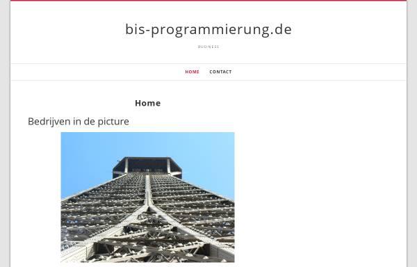 Vorschau von www.bis-programmierung.de, BIS-Progranmmierung, Rolf Warnecke