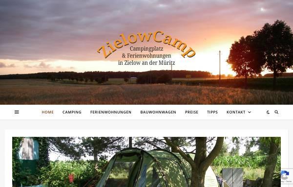 Vorschau von www.zielowcamp.de, Campingplatz & Ferienwohnungen