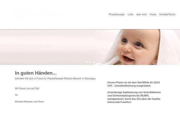 Vorschau von www.praxis-weynen.de, Physiotherapie-Praxen Weynen und van Kempen