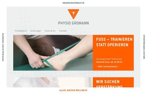Vorschau von www.physio-gromann.de, Physiotherapie-Praxis Gromann