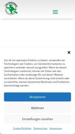 Vorschau der mobilen Webseite www.brockenhotel.de, Die Brockenherberge