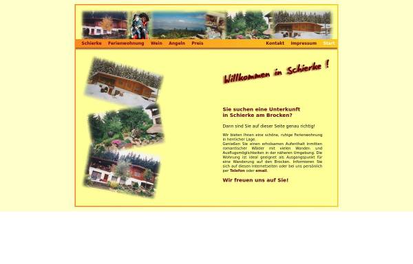 Vorschau von www.ferien-in-schierke.de, Ferienwohnung