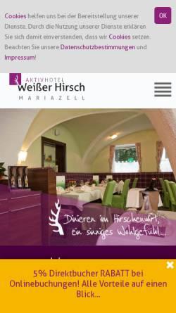 Vorschau der mobilen Webseite www.weisser-hirsch.at, Hotel & Restaurant Weisser Hirsch