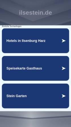 Vorschau der mobilen Webseite www.ilsestein.de, Waldgasthaus Zum Ilsestein