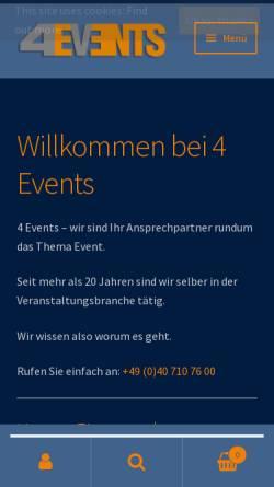 Vorschau der mobilen Webseite www.4-events.eu, 4-Events-United