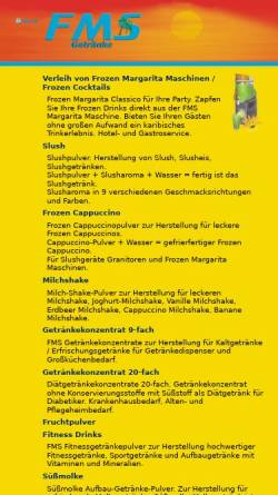 Vorschau der mobilen Webseite www.fms-hamburg.de, Frozen Margarita Cocktail Service