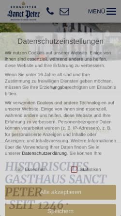 Vorschau der mobilen Webseite www.sanct-peter.de, Brogsitter's Sanct Peter GmbH