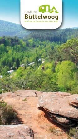 Vorschau der mobilen Webseite www.camping-buettelwoog.de, Campingplatz Büttelwoog