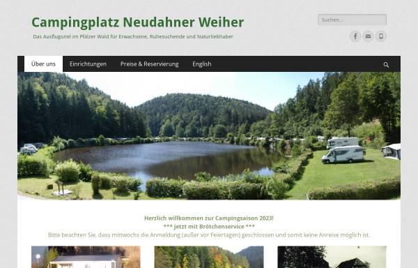 Vorschau von www.neudahner-weiher.de, Campingplatz Neudahner Weiher
