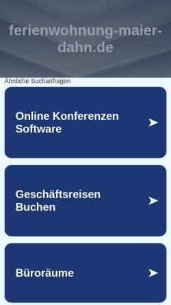 Vorschau der mobilen Webseite www.ferienwohnung-maier-dahn.de, Ferienwohnung Maier