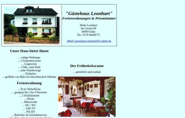 Vorschau von www.gaestehaus-leonhart.de, Gästehaus Leonhart