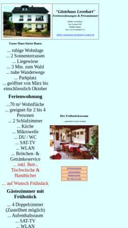 Vorschau der mobilen Webseite www.gaestehaus-leonhart.de, Gästehaus Leonhart