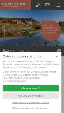 Vorschau der mobilen Webseite www.pfalzblick.de, Hotel Pfalzblick