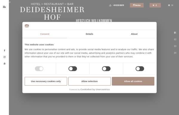 Vorschau von www.deidesheimerhof.de, Hotel Restaurant Deidesheimer Hof