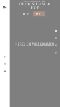 Vorschau der mobilen Webseite www.deidesheimerhof.de, Hotel Restaurant Deidesheimer Hof