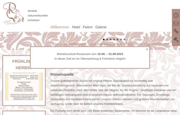 Vorschau von www.roesselsquelle.de, Hotel - Restaurant Rösselsquelle