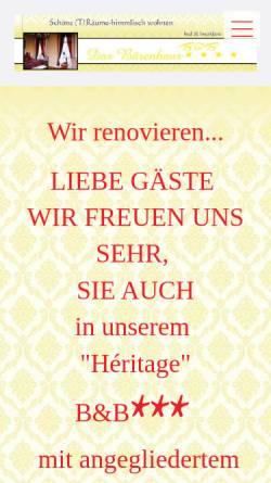 Vorschau der mobilen Webseite www.das-baerenhaus.de, Das Bärenhaus