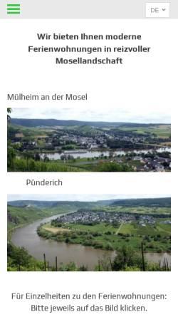Vorschau der mobilen Webseite www.moselaner-ferienwohnung.de, Ferienwohnung Familie Esch