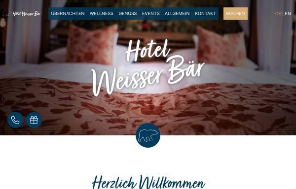 Vorschau von www.hotel-weisser-baer.de, Hotel-Restaurant Weisser Bär