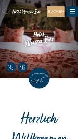 Vorschau der mobilen Webseite www.hotel-weisser-baer.de, Hotel-Restaurant Weisser Bär