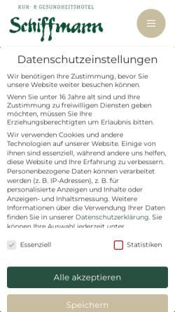 Vorschau der mobilen Webseite www.landhaus-schiffmann.de, Landhaus Schiffmann