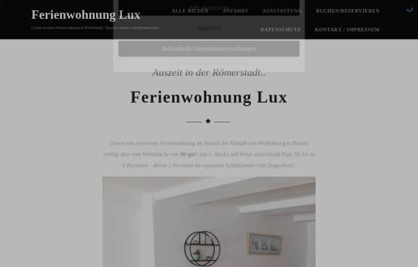 Vorschau von www.ferienwohnung-lux.de, Ferienwohnung Lux