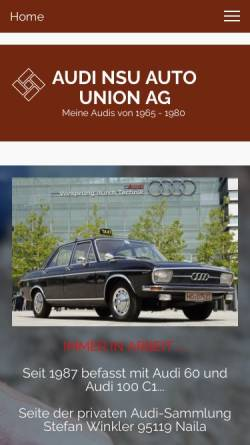 Vorschau der mobilen Webseite www.audi-classic.de, Audi Classic