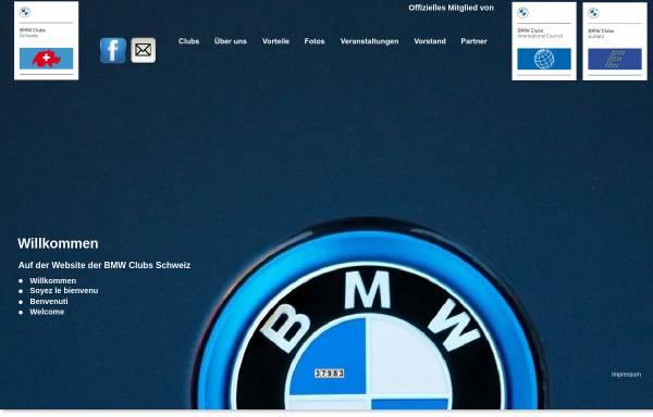 Vorschau von www.bmwclubs.ch, Vereinigung Schweizer BMW Clubs