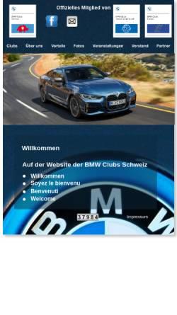 Vorschau der mobilen Webseite www.bmwclubs.ch, Vereinigung Schweizer BMW Clubs