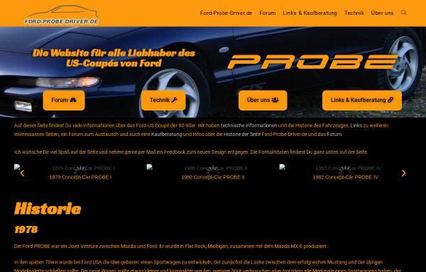 Vorschau von www.ford-probe-driver.de, Ford-Probe-Driver.de
