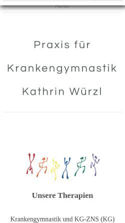 Vorschau der mobilen Webseite www.wuerzl-schmidt.de, Praxis für Krankengymnastik K .Würzl & C. Schmidt GbR