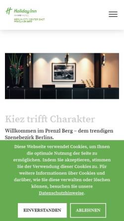 Vorschau der mobilen Webseite www.hi-berlin.com, Holiday Inn Berlin-Mitte