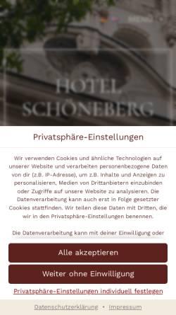Vorschau der mobilen Webseite hotel-schoeneberg.de, Hotel Schöneberg