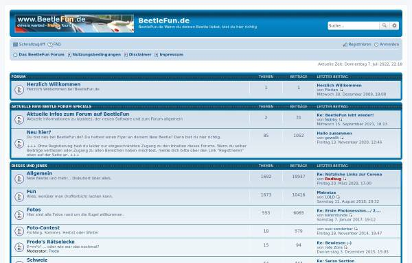 Vorschau von www.beetlefun.de, BeetleFun.de