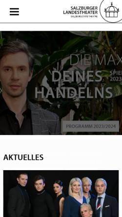 Vorschau der mobilen Webseite www.salzburger-landestheater.at, Salzburger Landestheater