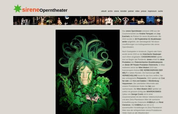 Vorschau von www.sirene.at, Wien, Sirene Operntheater