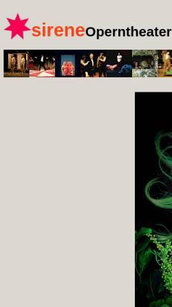 Vorschau der mobilen Webseite www.sirene.at, Wien, Sirene Operntheater