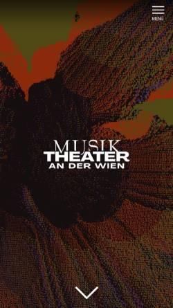Vorschau der mobilen Webseite www.wienerkammeroper.at, Wiener Kammeroper